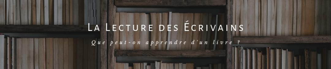 Écriture - La Lecture des Écrivains (Bannière)